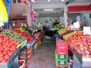 Fresh fruit and vegetables at Israeli market
