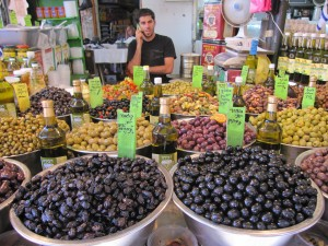 Olives at the Israeli market