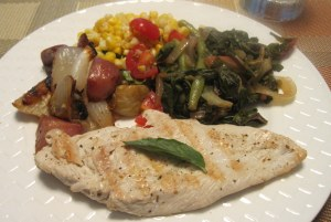 dinner made with CSA foods