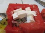 ceviche in watermelon