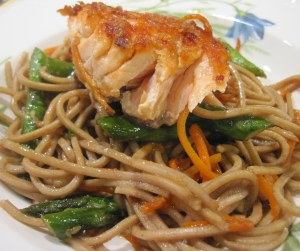 Pan-Seared Salmon with Soba Noodles